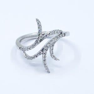 Free Form Diamond Ring 0.29 ctw