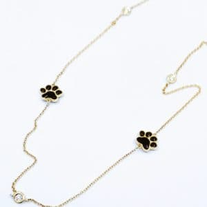 Elma Designs Diamond Paw Necklace