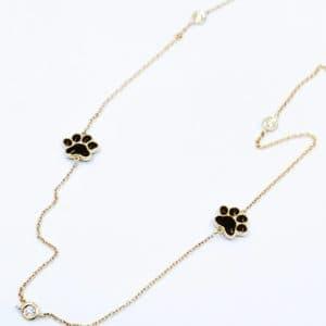 Elma Designs Diamond Paw Necklace