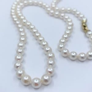 22″ Akoya pearl necklace