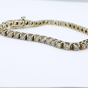 14k Gold 4.0 ctw Diamond Tennis Bracelet