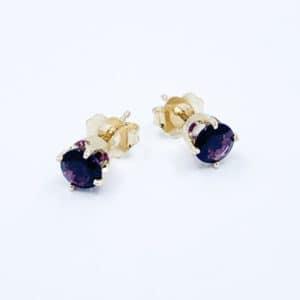 14k gold amethyst earrings