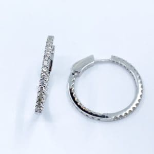 1.15 ct diamond inside out hoops