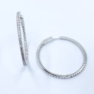 1.97 ctw Diamond Inside Out Hoops