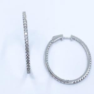 1.76 carat inside out diamond earrings