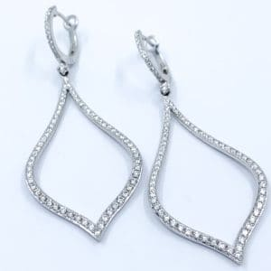 1.45 ctw Diamond Moroccan Style Earrings