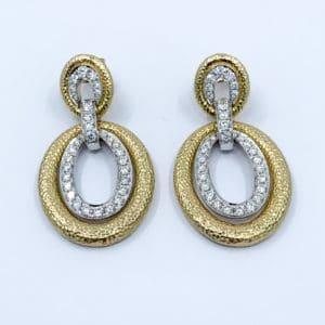 18k diamond statement earrings