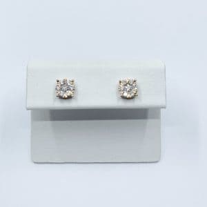 0.54 carats total diamond cluster earrings