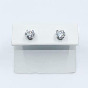 2.05 carat total diamond stud earrings