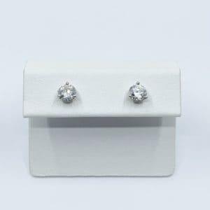 1.0 carat tota diamond stud earrings