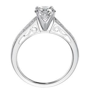 Vintage Style Migraine Diamond Engagement Ring
