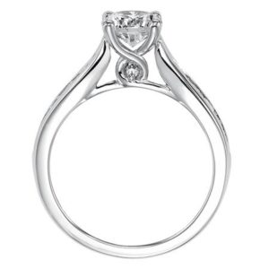 Channel Set Diamond Engagement Ring with Twisted C...