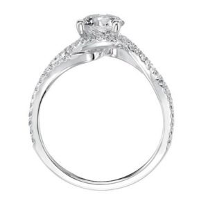 Delicate Diamond Free Form Engagement Ring