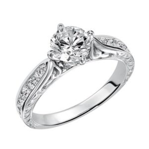 Diamond Filigree Diamond Engagement Ring