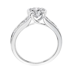 Bezel Set Diamond Channel Engagement Ring