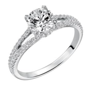 "Diamond ""tiara"" engagement ring"