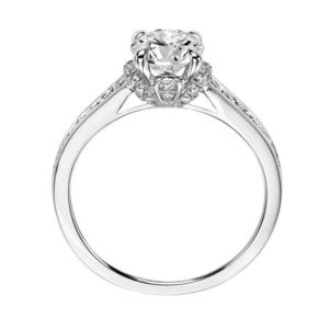 Whimsical Channel Set Diamond Engagement Ring