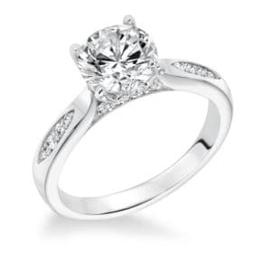 Dainty Prong Set Diamond Engagement Ring