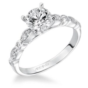 """Clarinda"" Pave Diamond Engagement Ring"