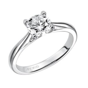"""Lindsey"" Traditional Polished Solitaire Engagement Ring"