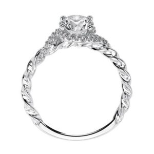 """Jolie"" Bypass Diamond Rope Engagement Ring"