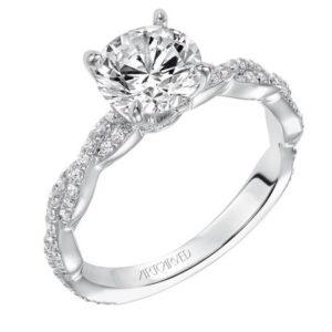 """Madeline"" Braided Diamond Engagement Ring"