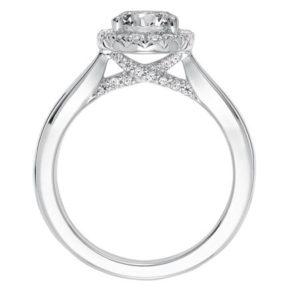 """Maisy"" Classic Diamond Halo Engagement Ring"