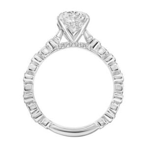 """Louisa"" Vintage Migrain Diamond Engagement ring"