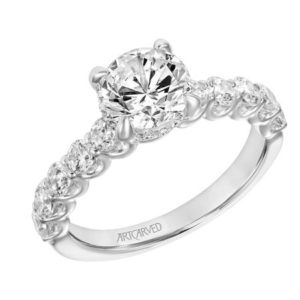 """Tina"" Round Brilliant Diamond Engagement Ring"