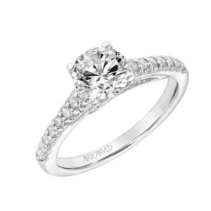 """Vega"" Diamond Engagement Ring with Celestial Detail"