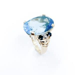 Estate Topaz and Sapphire Ring