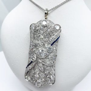 Diamond and Sapphire Convertible Pendant (Estate)