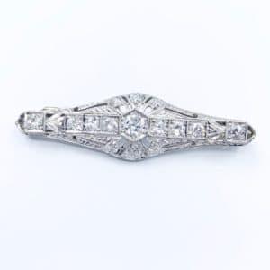 Vintage Diamond Bar Brooch (Estate)