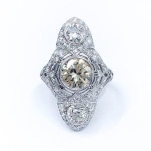 Vintage Three Stone Diamond Ring (Estate)