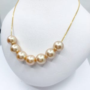 Estate Gold and Pearl Necklace