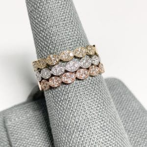14k Diamond Stackable Rings