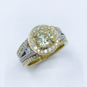 Custom Fancy Yellow Diamond Ring
