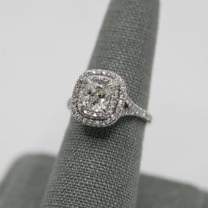 1.41 ct Cushion Cut Diamond Ring