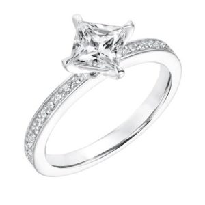 Bead Set Diamond Engagement Ring