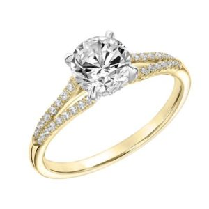 .19 ctw Diamond Split Shank Engagement Ring