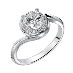 White Gold .10 ctw Diamond Engagement Ring