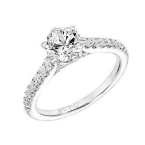 """Elana"" Graduated Diamond Engagement Ring"