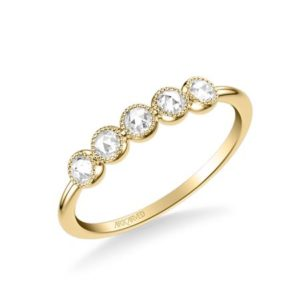14k Yellow Gold Rose Cut Diamond Band