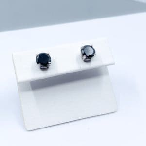 2.21 ctw Black Diamond Stud Earrings