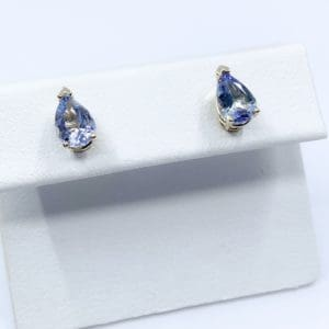 1.42 ctw Pear Cut Lavender Tanzanite Earrings