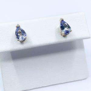 1.42 ctw Pear Cut Lavender Tanzanite Earrings