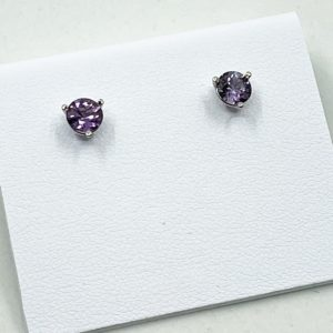 Purple Sapphire Earrings