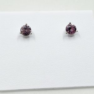 Rose Pink Sapphire Earrings