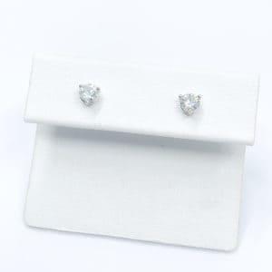 .44 carats total diamond studs