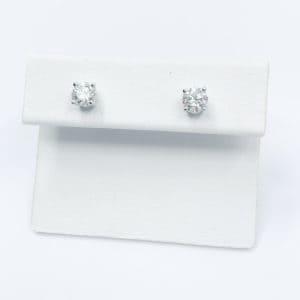 .73 carats total diamond studs